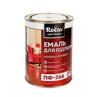 Ролакс Емаль ПФ-266  червоно-коричнева 2,8кг.