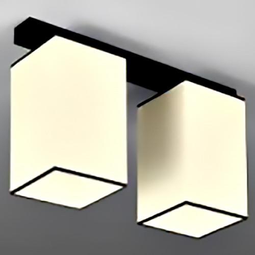 Подвесная люстра, ткань 29-H169/2 BK+WT (2 лампы)