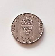 1 крона Швеция 1989 г., фото 1