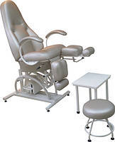 Кресло  педикюрное КП-5РГ (гидравлическая регулировка высоты) с подставкой для ванночки