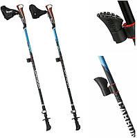 Трекінгові палиці для ходьби і гірського  CRIVIT® FX-Carbon для скандинавськой ходьби (карбонові) Blue, фото 1