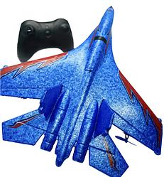 Літак на радіоуправлінні J-11 Mini B синій | радіокерований літак зі світлодіодним підсвічуванням пінопласт