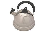 """Чайник для кипячения воды со свистком 2,3 л. из нержавеющей стали """"Demdeu"""" серый"""