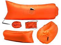 Надувной гамак лежак Prolisok 240x75 см оранжевый