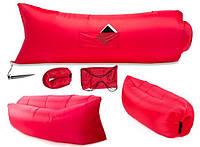 Надувной гамак лежак Prolisok 240x75 см красный