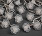 Гирлянда Розы 20LED 5720 разноцветная на батарейках | Новогодняя светодиодная бахрома Цветы мультиколор, фото 2