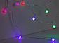 Гирлянда Розы 20LED 5720 разноцветная на батарейках | Новогодняя светодиодная бахрома Цветы мультиколор, фото 3