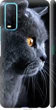 "Чехол на Vivo Y20 Красивый кот ""3038c-2078-2448"""
