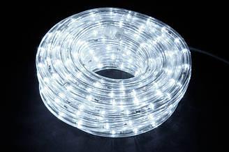 Светодиодная уличная гирлянда LED дюралайт 10 м белый свет 8 режимов свечения Прозрачный 46-8 ES, КОД: 1331161