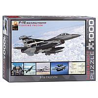 """Пазл """"F-16 в польоті"""", 1000 елементів Eurographics (628136649568)"""