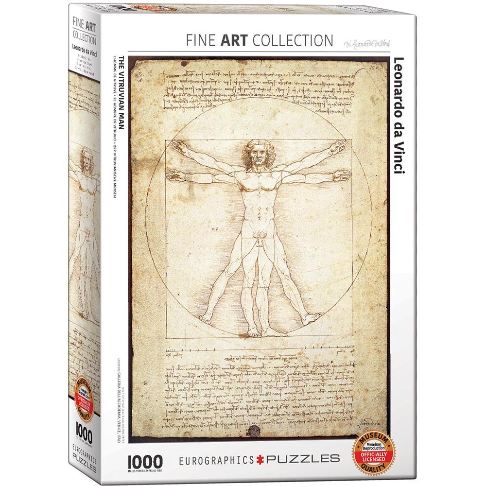 """Пазл """"Вітрувіанська людина. Леонардо да Вінчі"""", 1000 елементів Eurographics (628136650984)"""