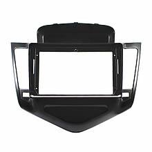 """Lb Перехідна рамка в машину під магнітолу 9"""" Black для автомобілів Chevrolet Cruze 2009-2011р. CH 044N"""
