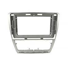 """Lb Перехідна рамка в машину під магнітолу 10.1"""" Silver для автомобіля Skoda Octavia 2004-2014р. F-6502"""