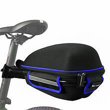 Lb Багажник под седло West Biking 0707151 Black + Blue для велосипеда с отражателями + чехол