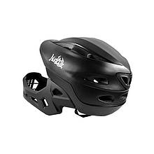 Lb Шлем защитный велосипедный с подбородком Nuckily PB14 Black р.52-55 велошлем