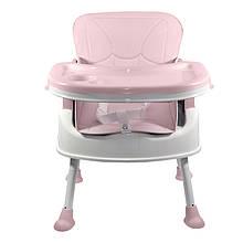 Lb Дитячий стільчик трансформер для годування Bestbaby BS-8808 Pink обідній стілець для малюків знімне крісло