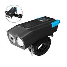 Lb Велосипедна фара West Biking BK-1718 0701220 Black + Blue велофара ліхтар на акумуляторі c виносним