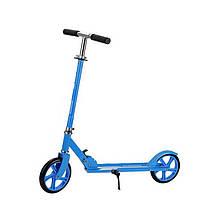 Lb Самокат с полиуретановыми колесами Scooter 885 Blue для подростков и детей складной с подножкой