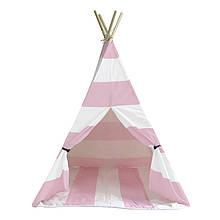 Lb Вигвам Littledove RT-1640 Розово-белая полоска детская игровая палатка домик в квартире на улице