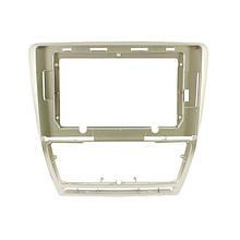 """Lb Перехідна рамка в машину під магнітолу 10.1"""" Silver + Gold для автомобіля Skoda Octavia 2004-2014р."""