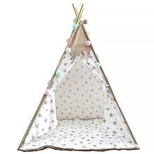 Lb Вигвам Littledove RT-14 Milk Stars детская игровая палатка домик в квартире на улице