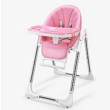 Lb Дитячий стільчик трансформер для годування Bestbaby BS-329 Dreams Pink складаний портативний з підставкою