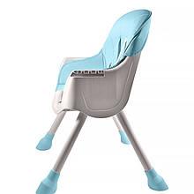 Lb Дитячий стільчик з ременями для годування Bestbaby BS-508 Blue домашній складаний сидіння для малюків