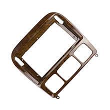 """Lb Перехідна рамка в машину під магнітолу 9"""" Wooden для автомобіля Mercedes-Benz W220 S 2006 BE 027N"""