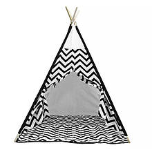 Lb Вигвам Littledove RT-SJQ Черный зигзаг детская игровая палатка домик в квартире на улице
