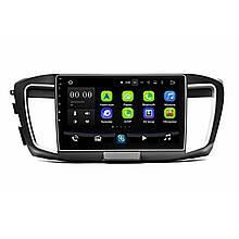 """Lb Заводська магнітола в машину 10"""" Honda Accord 9 Type 2014р. пам'ять 1/16 GB Can модуль GPS Android 8.1"""