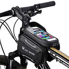 Lb Сумка для велосипеда на раму West Biking Smart 0707213 Black + Gray для смартфона и инструментов
