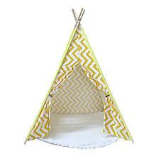 Lb Вигвам Littledove RT-1640 Желтый зигзаг детская игровая палатка домик в квартире на улице
