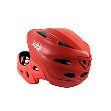 Lb Шлем защитный велосипедный с подбородком Nuckily PB14 Red р.52-55 велошлем