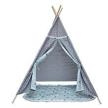 Lb Детская игровая палатка Littledove AJZ-046 Серый горошек домик вигвам для детей в квартире на улице