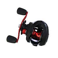 Al Катушка рыболовная мультипликаторная для спиннинга Reelsking GLE 201 Black-Red Left