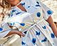 Легка жіноча сукня XL білого кольору в сині квіти, фото 4