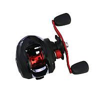 Al Катушка рыболовная мультипликаторная для спиннинга Reelsking GLE 201 Black-Red Right