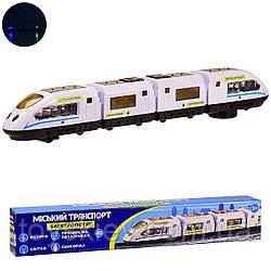 Вагон метро K1112 (84шт|2) батар.,свет,звук,в коробке  42*5.3*7 см, р-р игрушки – 42*4.5*6 см