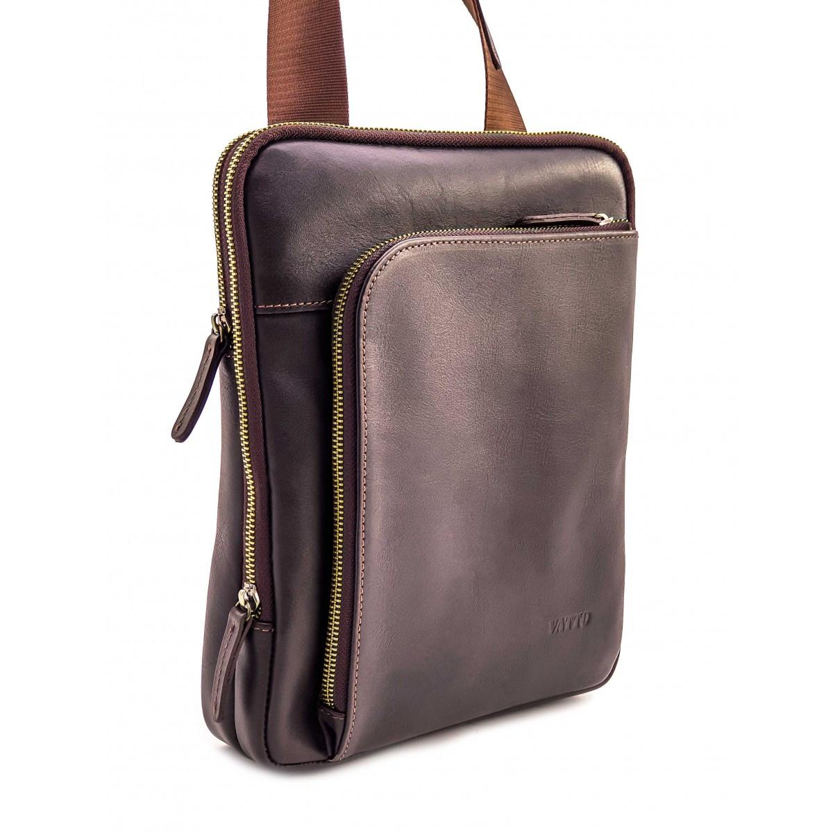 Чоловіча шкіряна сумка на плече