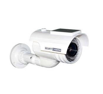 Муляж уличной камеры Белый цилиндр с солнечной батареей
