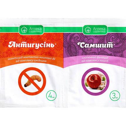 """Фунгіцид """"Антигусень"""" 3 мл + """"Самшит"""" для яблуні, винограду, персика, 4 мл, від Ukravit (оригінал), фото 2"""