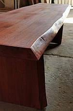 Стол+2 лавочки из массива дуба. Дикий край, фото 3