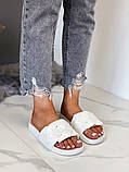 Женские пляжные шлепки шлепанцы очень удобные, бежевые белые, фото 3