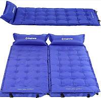 Самонадувающийся килимок KingCamp Base Camp Comfort(KM3560) (blue), фото 3