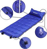 Самонадувающийся килимок KingCamp Base Camp Comfort(KM3560) (blue), фото 4
