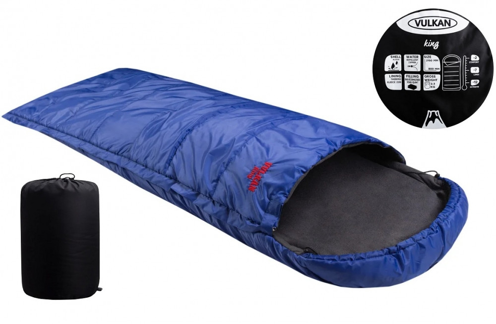 Спальний мішок Vulkan King синій