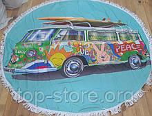 Пляжный коврик полотенце  Подстилка на пляж и пикник  Размер 150*150 см.