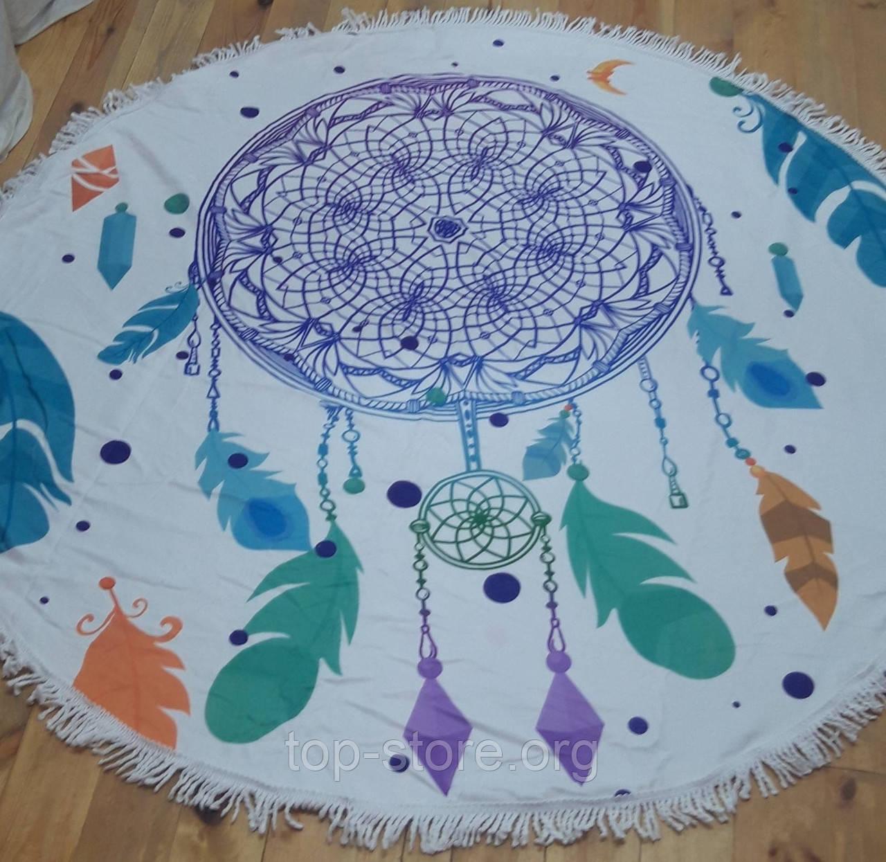 Пляжний килимок рушник  Підстилка на пляж і пікнік Розмір 150*150 см.