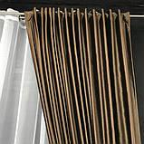 Якісні оксамитові штори на трубній стрічці Штори Блекаут Штори з оксамиту 200х270 см Колір Шоколадний, фото 5