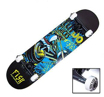"СкейтБорд деревянный от Fish Skateboard ""Turbo"""